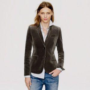 EUC J Crew velvet boyfriend blazer jacket in brown